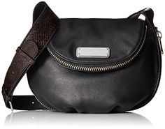 Women's Cross-Body Handbags - Marc by Marc Jacobs New Q Zippers Mini Natasha Cross Body Bag BlackMulti One Size * For more information, visit image link.