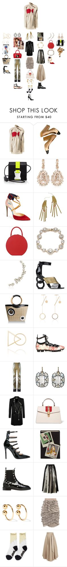 """""""Untitled #1947"""" by punchingwalls ❤ liked on Polyvore featuring Chanel, Christopher Kane, Suzanne Kalan, Christian Louboutin, Suzannah Wainhouse, Mansur Gavriel, Marchesa, Ryan Storer, Kat Maconie and Perrin"""