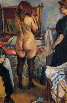 Getting Dressed by Jules Pascin #art
