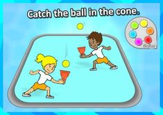 FREE PE STATION idea • Catch the ball in the cone • - Throw the ball up in the air and catch it in the air. We've got 60 of the best, most exciting PE and Sport skill stations for your grades K-3 to explore on, complete with printable station cards and score sheets! https://www.teacherspayteachers.com/Product/PE-Sport-Stations-The-Exploring-Stations-PE-Sport-Skills-Pack-Grades-K-3-2857949