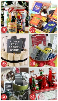Christmas Gift Basket Ideas for Men- these are sooooo good! Lots of fun themed Christmas gift basket ideas! for girlfriend basket Christmas Gift Basket Ideas for Men Diy Gifts For Christmas, Christmas Gift Baskets, Holiday Gifts, Christmas Decorations, Christmas Ideas For Men, Christmas Christmas, Christmas Gift Exchange, Last Minute Christmas Gifts, Handmade Christmas