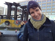 #ImprovFilmProject | #Berlin | Juliane Block in the middle of Alexanderplatz | the fountain in the former East Berlin, Former Paradise On Earth, Former Worker's Paradise