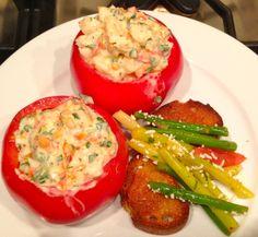 Shrimp Salad-Stuffed Tomatoes
