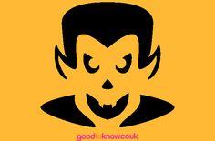 Free pumpkin carving patterns - Vampire pumpkin carving pattern - goodtoknow