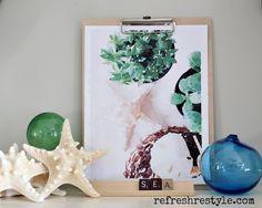 Watercolor Printables - Beach Inspired