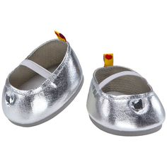 Silver shoes look sweet with any outfit.