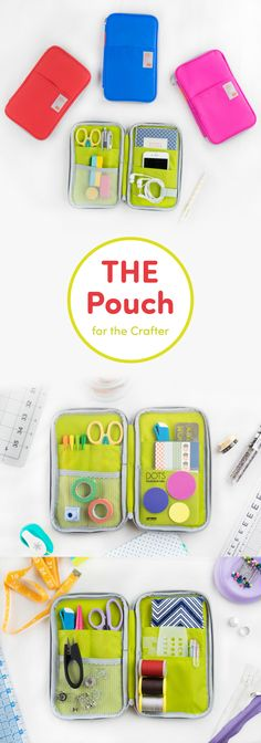 Crafters this is what you've been waiting for. The Better Together Note Pouch v3 is perfect for organizing your craft & art supplies so you can be creative & crafty wherever you are! With its many open, mesh, and zippered pockets, it has plenty of storage. Use this handy pouch to carry your washi tape, scissors, stickers, pens, sewing kit, paper, markers, ribbon, erasers, and so much more! It even includes a spiral grid notebook! The whole thing zips up for easy and secure travel. Check it…
