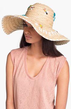 8ddf8f35abe9a kate spade new york  hello sunshine  raffia sun hat