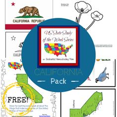 US State Study of the Week Weekly Series FREE California Pack