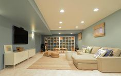 26 Charming and Bright Finished Basement Designs Basement basement paint colors Basement Paint Colors, Basement Painting, Basement Layout, Modern Basement, Basement Walls, Basement Bedrooms, Basement Flooring, Basement Ideas, Basement Gym