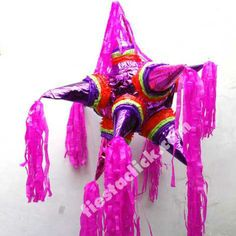Piñata estrella en colores combinados