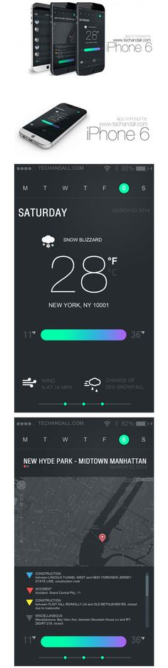 iPhone 6 App UI Concept v.5