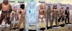 Native American Gods: Tomazooma - God of storytelling. Ghost Dancer - God of the spirit. Owayodata - God of the Hunt. Haokah - The thunder god. Manitou - The creator god. Tawa - God of the sun. Calumet - God of the hobowakan. Hotamintanio - The war god. Nanabozho - God of fire and earth. Iktomi - The spider god.