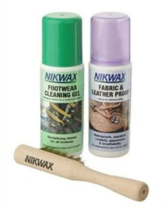 Nikwax Care Kit for Combination Footwear - Care Kit by Nikwax. Footwear Cleaning Gel: Cleans all types of leisure, lifestyle and sports shoes and boots. Safe to use on footwear with breathable membranes e.g. Gore-Tex, SympaTex, eVENT etc. Fabric and Leather Proof: Spray-on waterproofing. Waterproofs, maintains support and breathability. All fabric and leather combination footwear (work, fashion, leisure and sports) Safe to use on footwear with breathable membranes e.g. Gore-Tex, SympaTex...