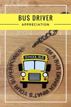 Bus Driver Appreciation, Teacher Appreciation Week, Teacher Gifts, School Buses, School Bus Driver, School Bus Clipart, Bus Tags, Bus Driver Gifts, Silhouette School Blog