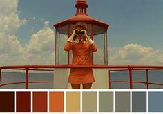 Esta cuenta de Instagram comparte las paletas de colores de escenas icónicas del cine.
