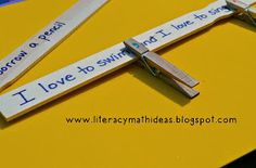 Literacy & Math Ideas: Clothespin Punctuation