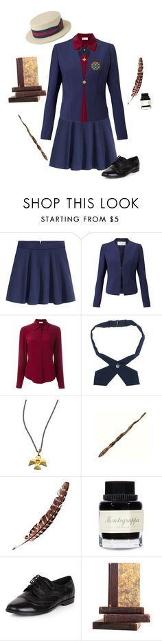 """""""Ilvermorny Girl's Uniform"""" by rissie-5 ❤ liked on Polyvore featuring H&M, HUGO, RED Valentino, French Toast, Twig, Ash, Montegrappa, New Look, Thunderbird and ilvermorny"""
