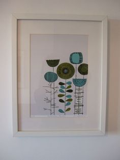 Embroidery Flowers Placement Lime limited edition by EloiseRenouf