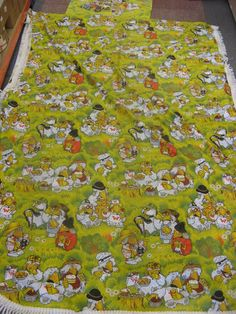 VINTAGE 1970`S WOMBLES OF WIMBLEDON PILLOWCASE AND MATCHING BED SPREAD Wimbledon, Back In The Day, Bed Spreads, Great Quotes, Childhood Memories, Camper, Pillow Cases, Nostalgia, Bedding