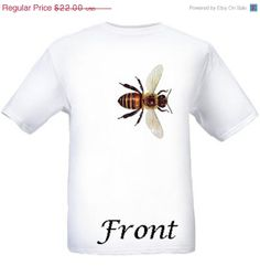 Honey Bee White Tee Shirt Beekeeping Apiary Entomology Double Sided on Etsy, $22.00