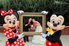 Our favorite wedding guests - Mickey and Minnie Mouse #Disney