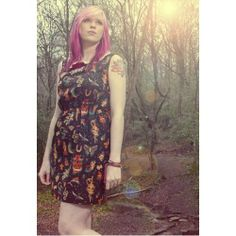 The Tattooed Lady Dress. Buy @ http://thehubmarketplace.com/The-Tattooed-Lady