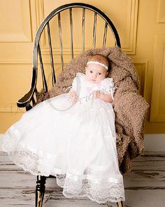 Lauren Christening Gown Infant Girls Blessing por Debragardner