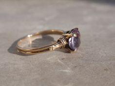 Art Deco Amethyst Ostby Barton Ring 10k Ladies Victorian