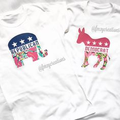 Election Day Shirt//2016 Election Shirt//Republican Shirt//Democrat Shirt// Women's Shirt// Lilly Pultizer Insprired Shirt //Political shirt by LetsPartyCreations on Etsy https://www.etsy.com/listing/290520327/election-day-shirt2016-election