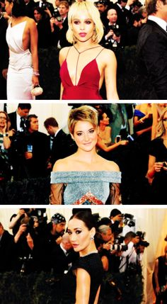 'Divergent' Ladies Shailene Woodley, Zoe Kravitz and Maggie Q attend 'Charles James: Beyond Fashion' Costume Institute Gala at the Metropolitan Museum of Art on May 5, 2014 in New York City.