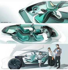 Car Interior Sketch, Car Interior Design, Interior Design Sketches, Interior Concept, Futuristic Design, Detailed Drawings, Transportation Design, Concept Cars, Car Seats