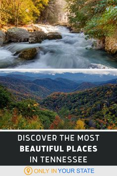 If you're looking to find some of the most beautiful places in the world, travel to Tennessee. There are several top ranked natural destinations including the Great Smoky Mountains National Park. Get outdoors, and enjoy nature at its best. There are hiking trails, scenic overlooks, stunning drives, forests, and more to explore. Add these gems to your bucket list. Beautiful Places In America, Oh The Places You'll Go, Most Visited National Parks, Tennessee Usa, Hiking Photography, Hidden Beach, Smoky Mountain National Park, Get Outdoors, United States Travel