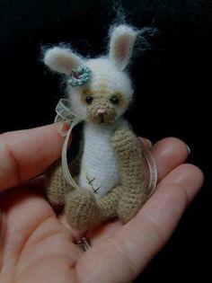 Miniature Crochet Vintage Style Bunny