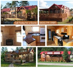 Park Model Cabins, Park Model Homes, Park Model Chalets, Portable Cabins Park Model Rv, Park Model Homes, Little House Plans, Little Houses, Cabins For Sale, Small Cabins, Portable Cabins, Small House Living, Prefab Homes