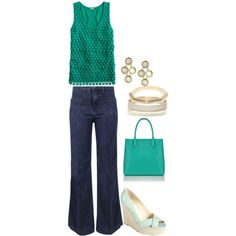 """""""Simple for Summer"""" by beth-corliss-kraetsch on Polyvore    #tanks #wedges #wide leg"""