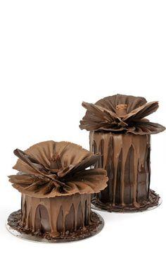 Belleza de minipasteles de chocolate.