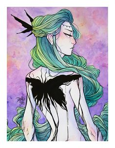 Black Blood Moth ♦ Watercolor Art Print