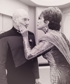 Captain Picard + Lwaxana Troi = an unhappy Captain.