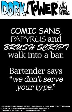 There's a certain irony that the bartender denies them in Courier.