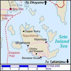 Map of Naoshima island