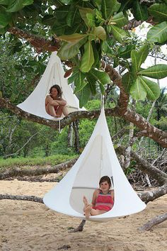Cacoon – All Weather Hanging Hangout All / Living / Furniture When you combine a tent, hammock, bird's nest and a tepee, you get something like this cool new Cacoon.
