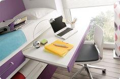 Dormitorios juveniles  Habitaciones infantiles y mueble juvenil Madrid: CAMAS COMPACTO CON MESA DE ESTUDIO