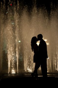 Do a Night Engagement Shoot for silhouette pictures- keep this in mind for the girls when they're ready.