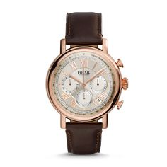 Buchanan Chronograph Brown Leather Watch - Fossil