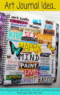 art journal | get art journal inspiration → http://schulmanart.blogspot.com/2014/03/art-journal-prompt-word-collage.html