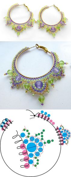 earrings pattern schema | Beads Magic