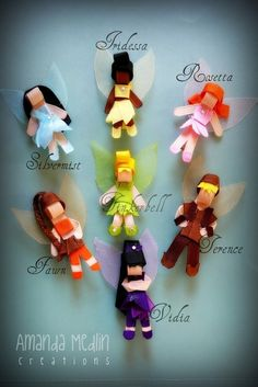 PICK ONE Disney Fairies Inspired ribbon sculpture by MamaDrama77 on we heart it / visual bookmark #8707510