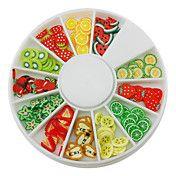 12-Color Fruit Design Polymer Decoración de u... – EUR € 1.64