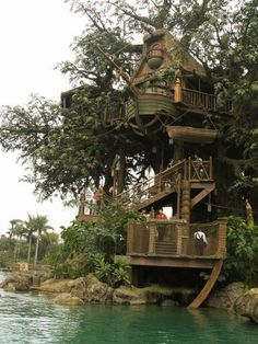 A treehouse would be good if it had an elevator... or Lenny Kravitz at the top waiting for me... yep, that would work.